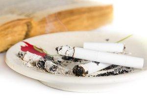 Cigarettes heap