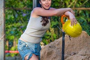 Woman builder