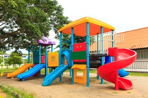 Modern kids toy playground