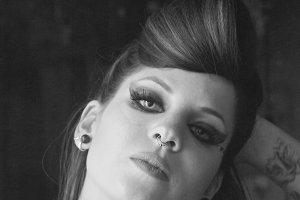 portrait of grunge woman