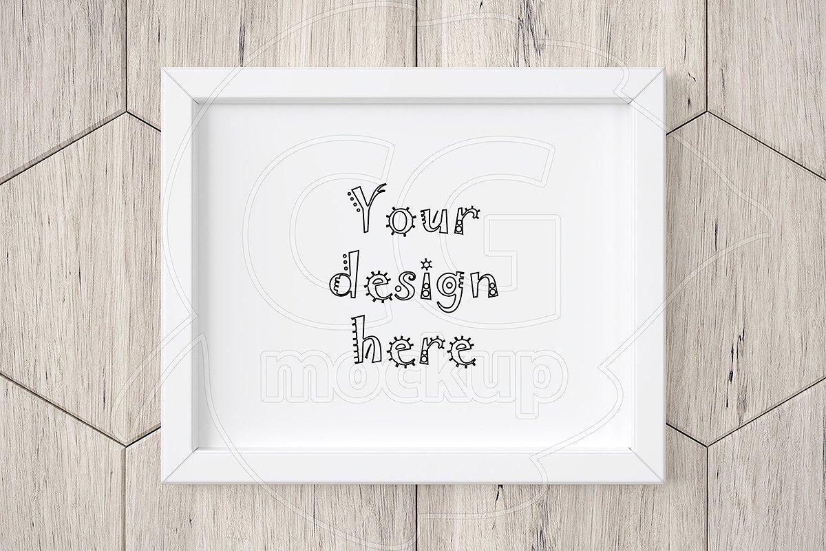 fee7bb87d975 Styled horizontal white frame mockup ~ Print Mockups ~ Creative Market