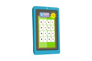 Online Casino on Tablet Computer