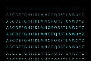 Neon font collection vector