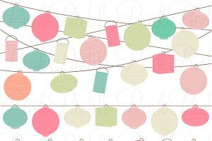 Pastel Paper Hanging Lantern Clipart Illustrations Creative Market