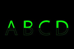Rainbow font outline vector