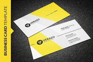 Stylish Yellow Business Card