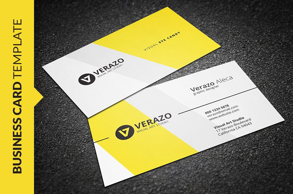 Lovely Yellow Business Cards Contemporary - Business Card Ideas ...