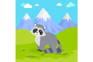 Funny Raccoon Illustration