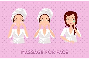 Massage For Face Set