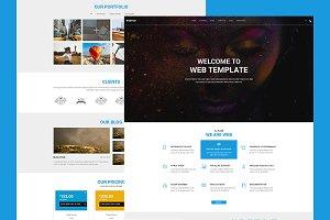 WEBTEM - Onepage PSD Template