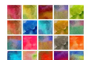 25 Watercolor Patterns for Photoshop