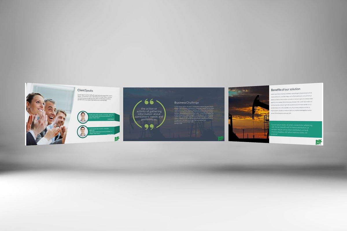 Modern Case Study Template Presentation Templates Creative Market