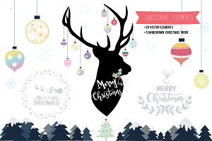 Christmas Elements decoration VECTOR