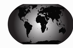 World map vector gray planet