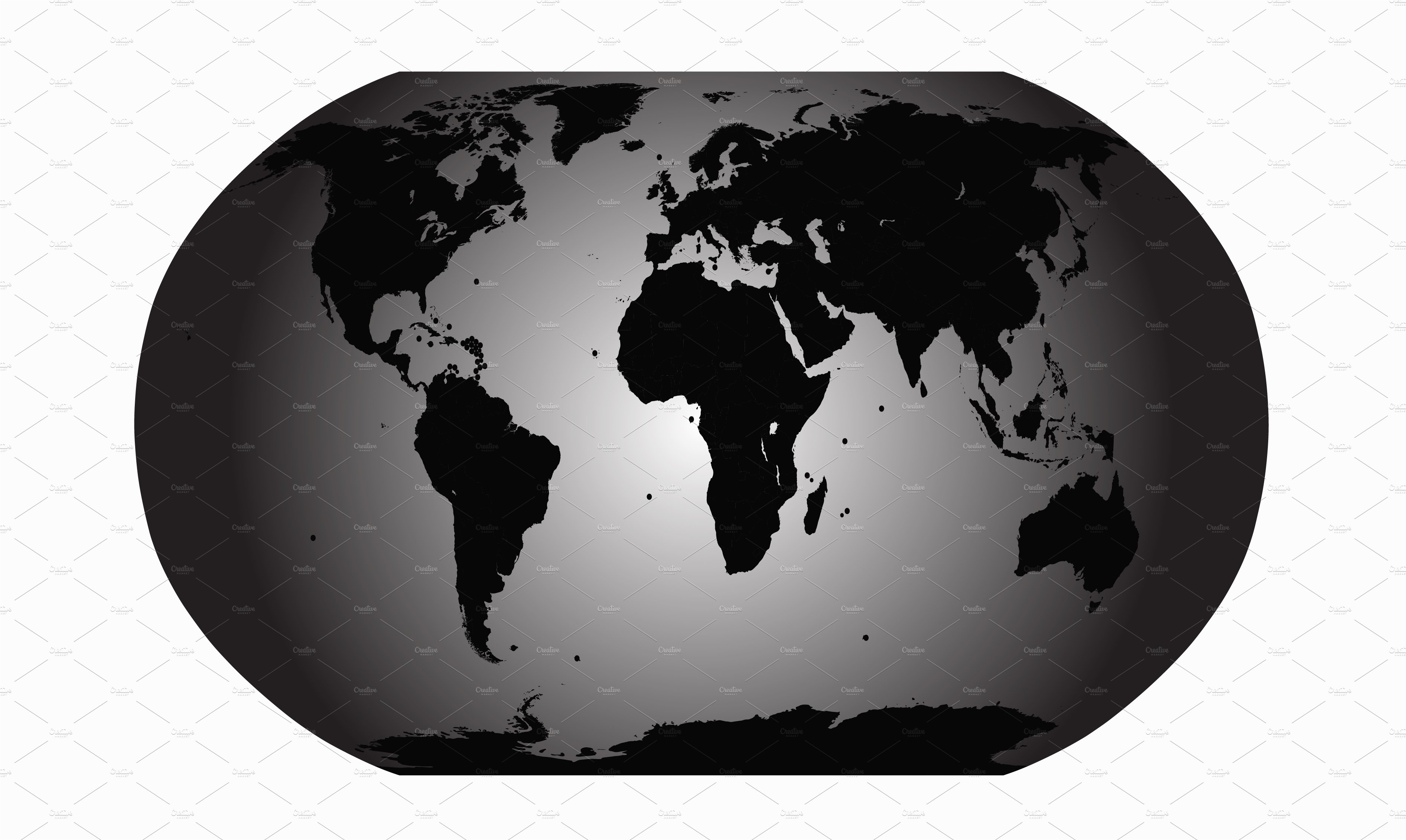 World map vector gray planet graphics creative market gumiabroncs Gallery