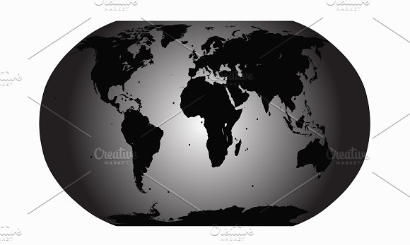 World map vector gray planet graphics creative market world map vector gray planet graphics gumiabroncs Gallery