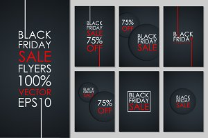 Set of Black Friday Sale flyers