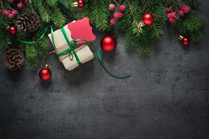 Christmas decorations and gift.