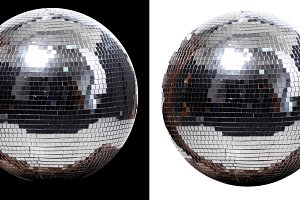 two disco ball