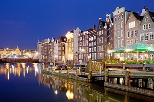 City of Amsterdam by Night