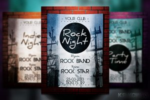 Rock Night Flyer / Poster