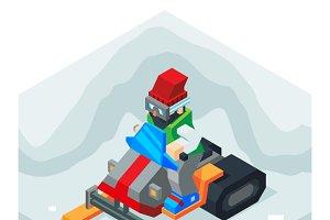 Snowmobile Winter Activity