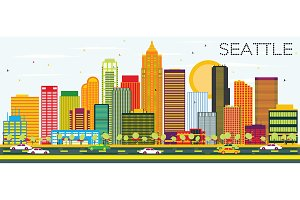 Abstract Seattle Skyline