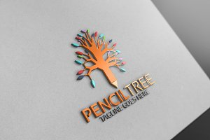 Pencil Tree Logo