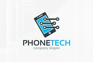 Phone Tech Logo Template