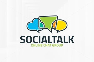 Social Talk Logo Template