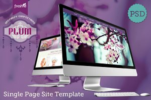 Plum, Single Page Template Photoshop