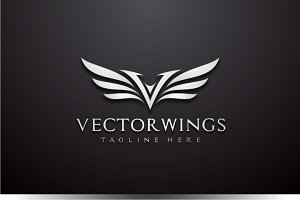 Vector Wings - Letter V Logo