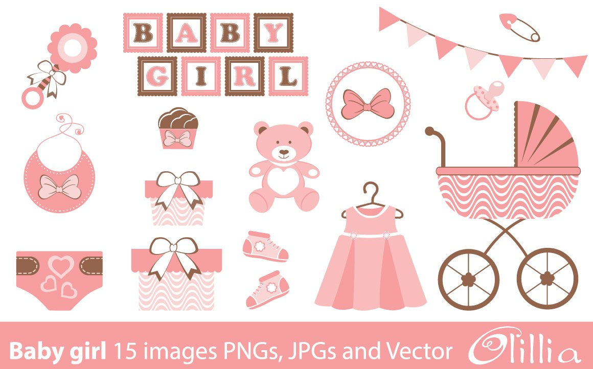 Baby girl collection ~ Illustrations ~ Creative Market