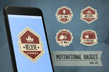 Motivational badge design vol. 01