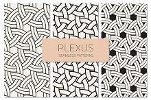 Plexus Seamless Patterns Set 2