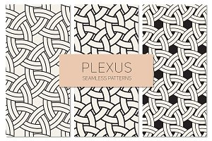 Plexus Seamless Patterns Set 2