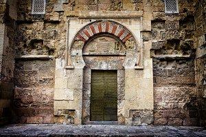 Ancient Door to Mezquita in Cordoba