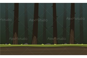Forest Cartoon Game Background