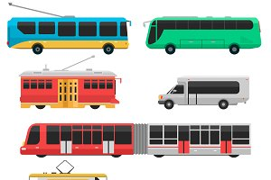 Vector city transportations