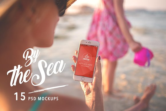 Free 15 PSD Mockups By The Sea