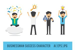 Businessman Success Character