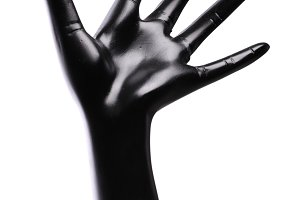 one black artificial hand