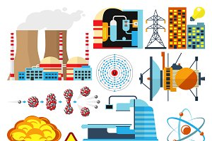 Nuclear power plant vector set
