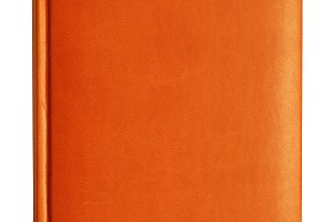 orange leather diary notebook