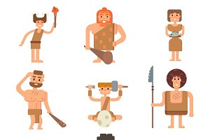 Caveman primitive neanderthal people