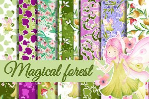 Magical forest patterns