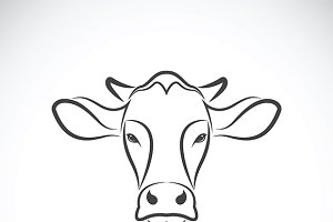 Vector image of a cow head design