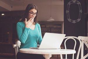 Woman-freelancer is looking
