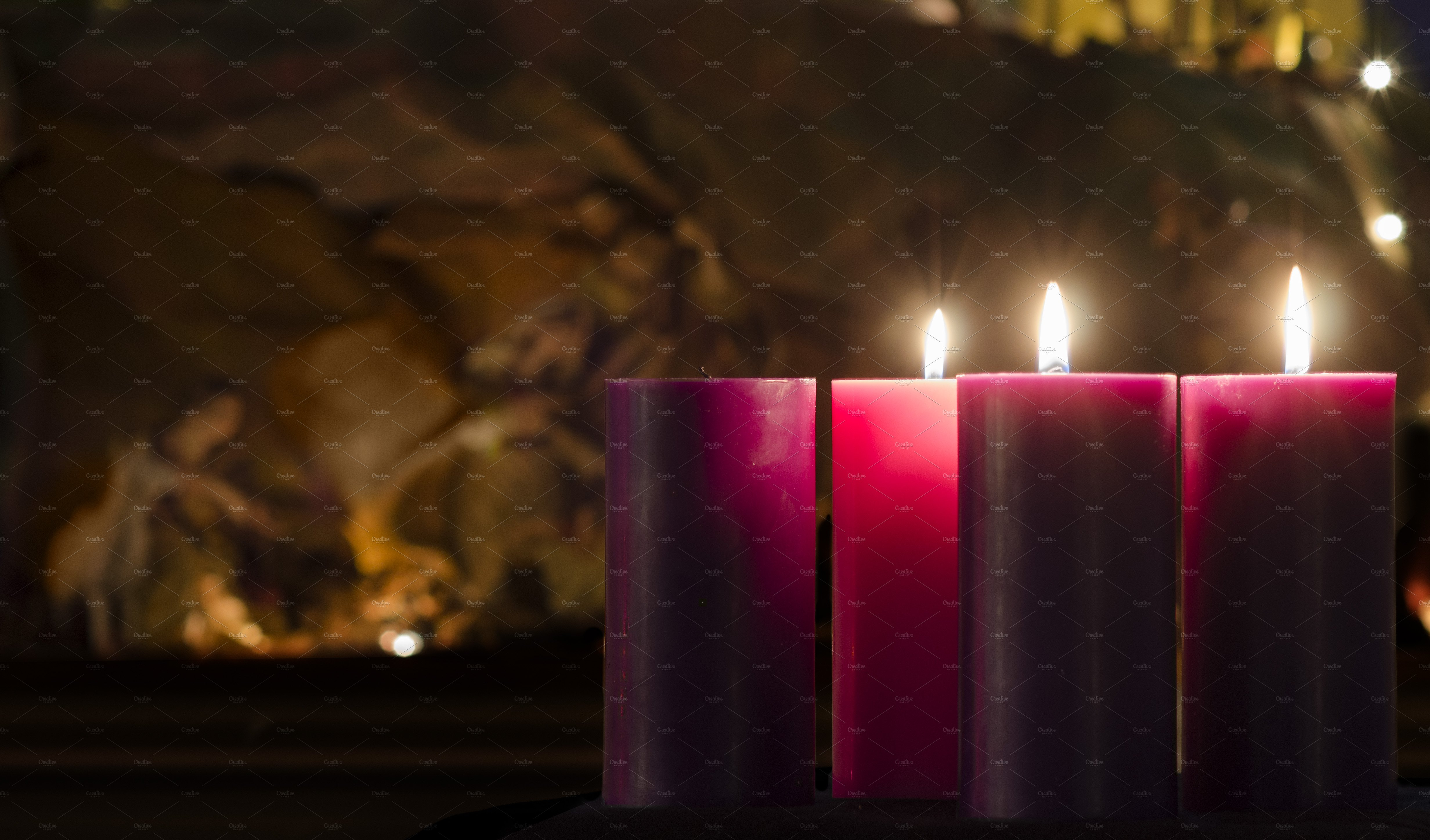advent candle week 3 holiday photos creative market. Black Bedroom Furniture Sets. Home Design Ideas