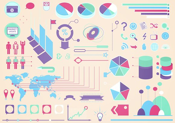 Infographics vector set in Objects